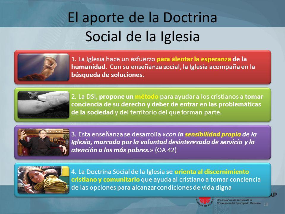 El aporte de la Doctrina Social de la Iglesia 1.