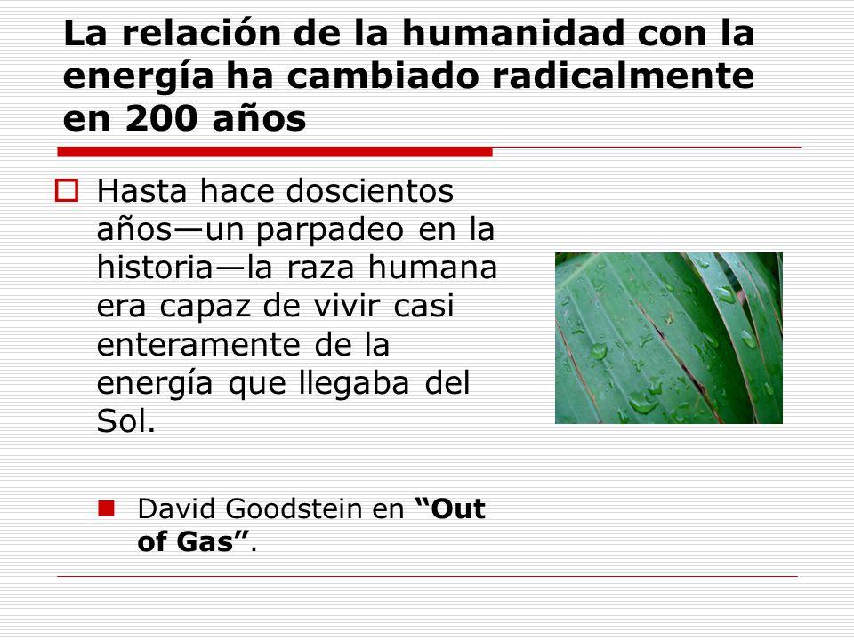 Conclusiones (3) La bioenergía puede contribuir a resolver La problemática energética de México Las necesidades de desarrollo en el campo Los compromisos de México en la lucha contra el calentamiento global El manejo de residuos urbanos y agrícolas Porque Hay recursos naturales aprovechables La tecnología existe y avanza rápidamente