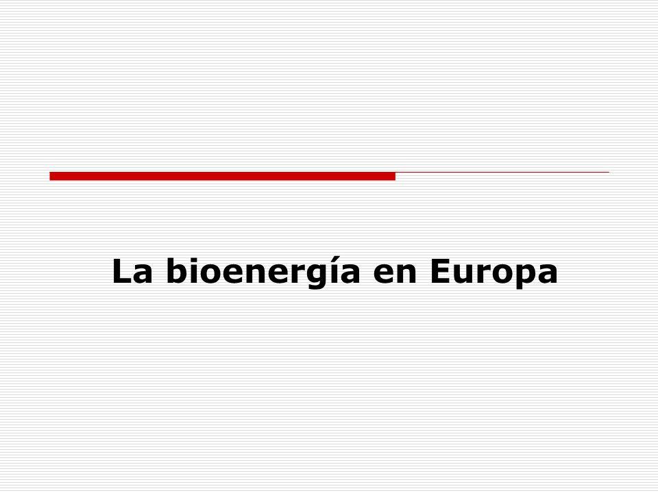 La bioenergía en Europa