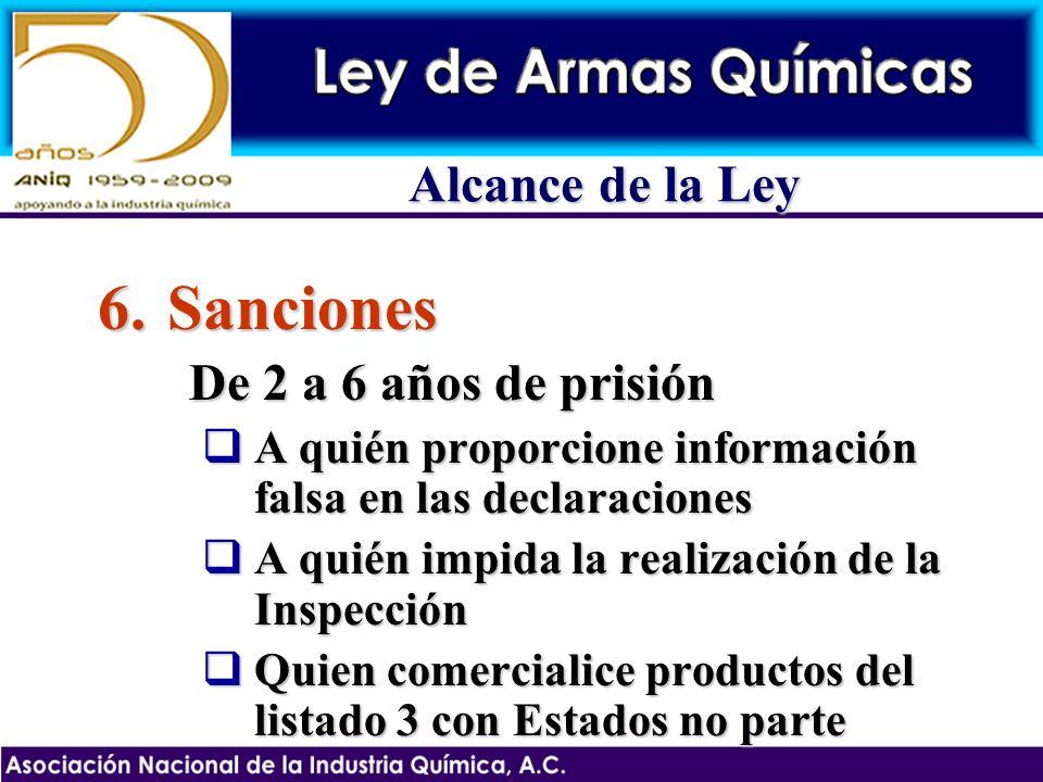 6.Sanciones De 2 a 6 años de prisión A quién proporcione información falsa en las declaraciones A quién proporcione información falsa en las declaraci