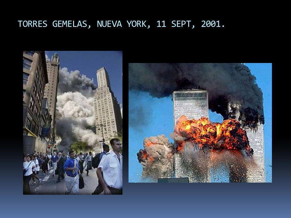 TORRES GEMELAS, NUEVA YORK, 11 SEPT, 2001.