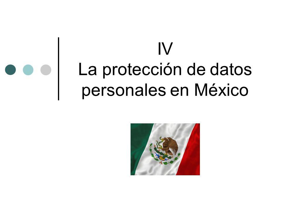 IV La protección de datos personales en México