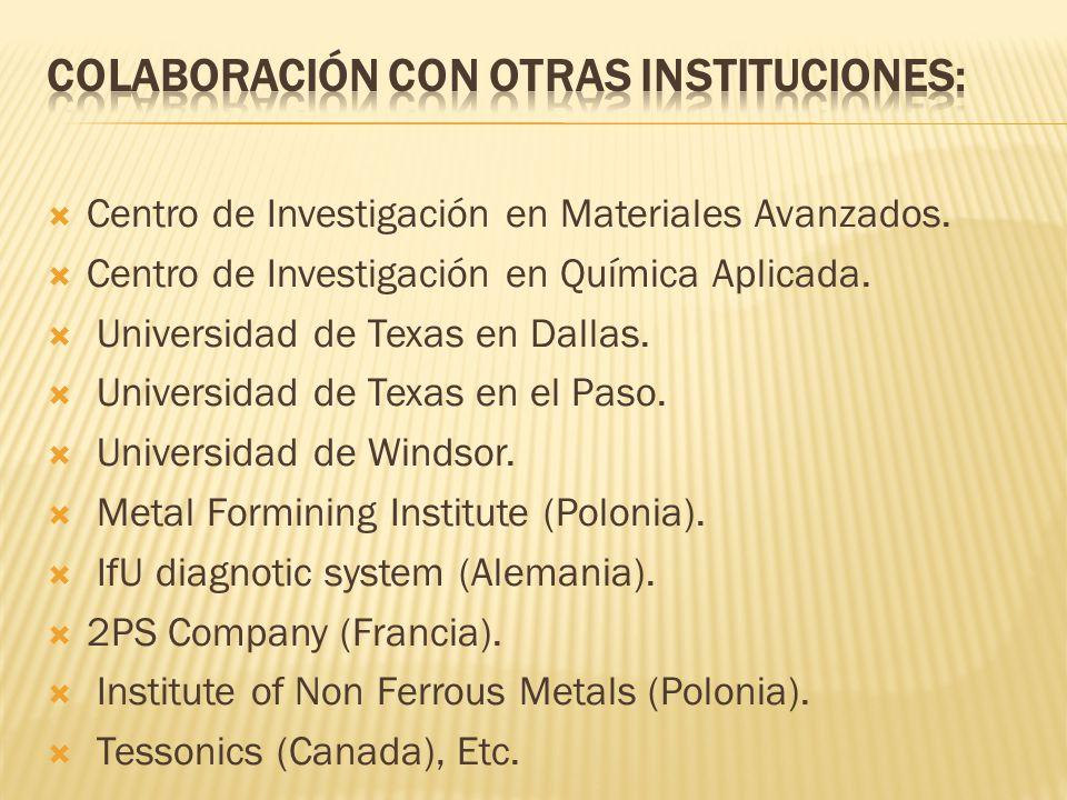 Centro de Investigación en Materiales Avanzados. Centro de Investigación en Química Aplicada.