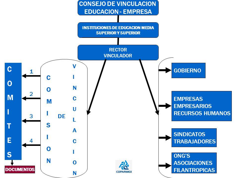 COMISION COMISION DE VINCULACIONVINCULACION ONGS ASOCIACIONES FILANTROPICAS SINDICATOS TRABAJADORES EMPRESAS EMPRESARIOS RECURSOS HUMANOS GOBIERNO COM