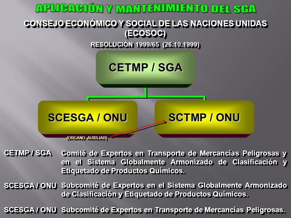 CONSEJO ECONÓMICO Y SOCIAL DE LAS NACIONES UNIDAS (ECOSOC) RESOLUCIÓN 1999/65 (26.10.1999) CONSEJO ECONÓMICO Y SOCIAL DE LAS NACIONES UNIDAS (ECOSOC)