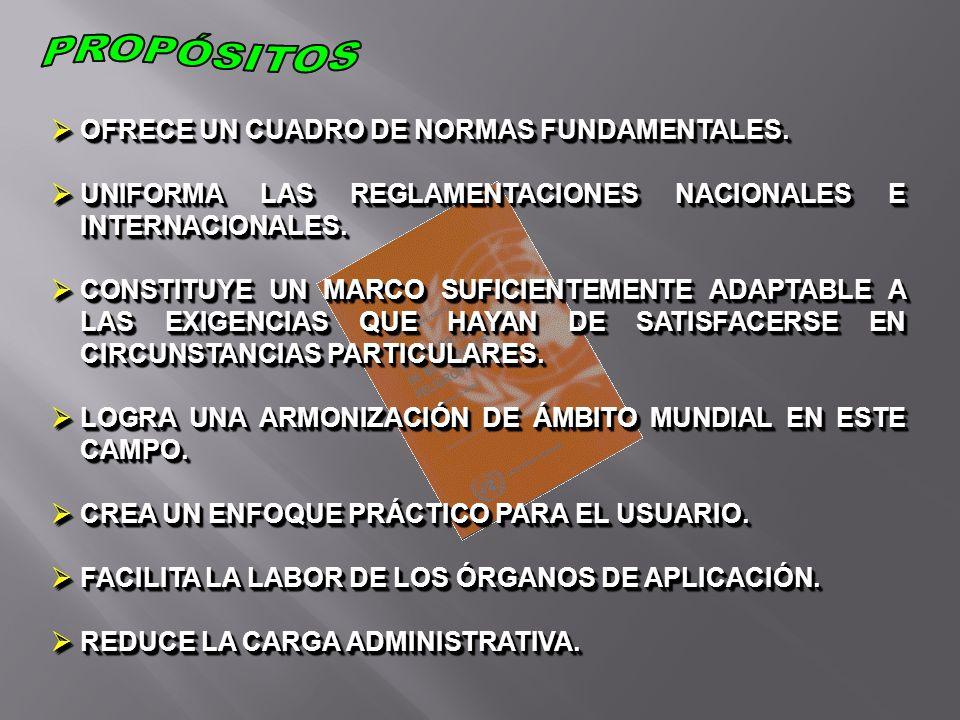 PRINCIPIOS DE LA CLASIFICACIÓN Y DEFINICIÓN DE LAS CLASES DE LAS SUBSTANCIAS MÁS USUALMENTE TRANSPORTADAS.