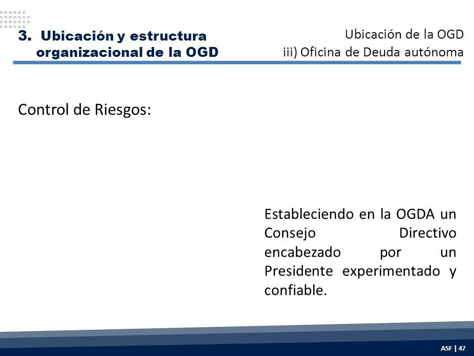 Estableciendo en la OGDA un Consejo Directivo encabezado por un Presidente experimentado y confiable.