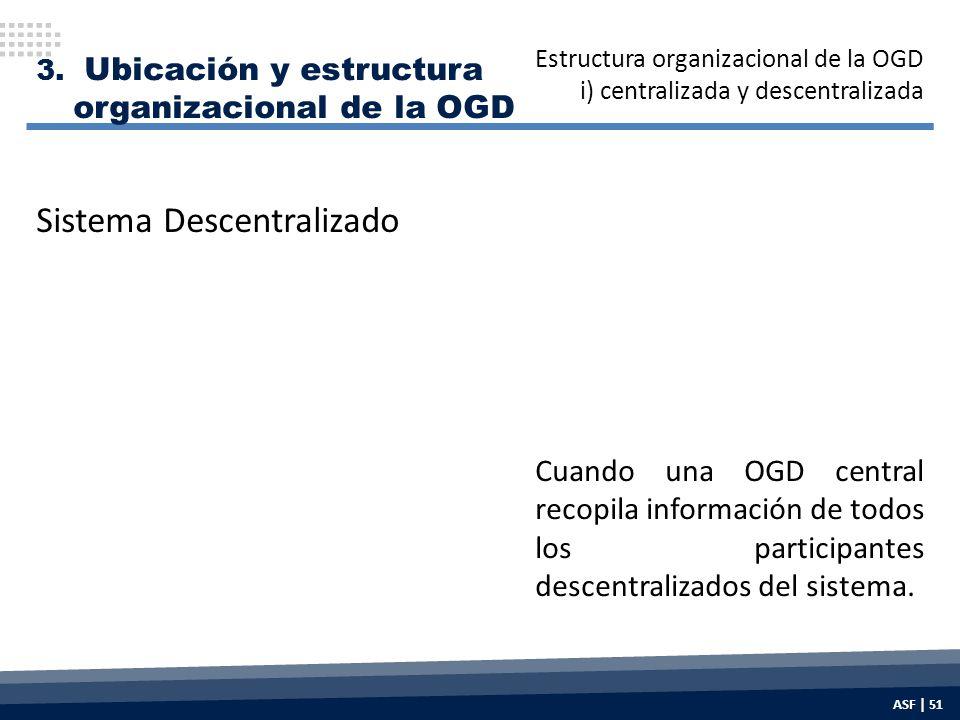 Cuando una OGD central recopila información de todos los participantes descentralizados del sistema.