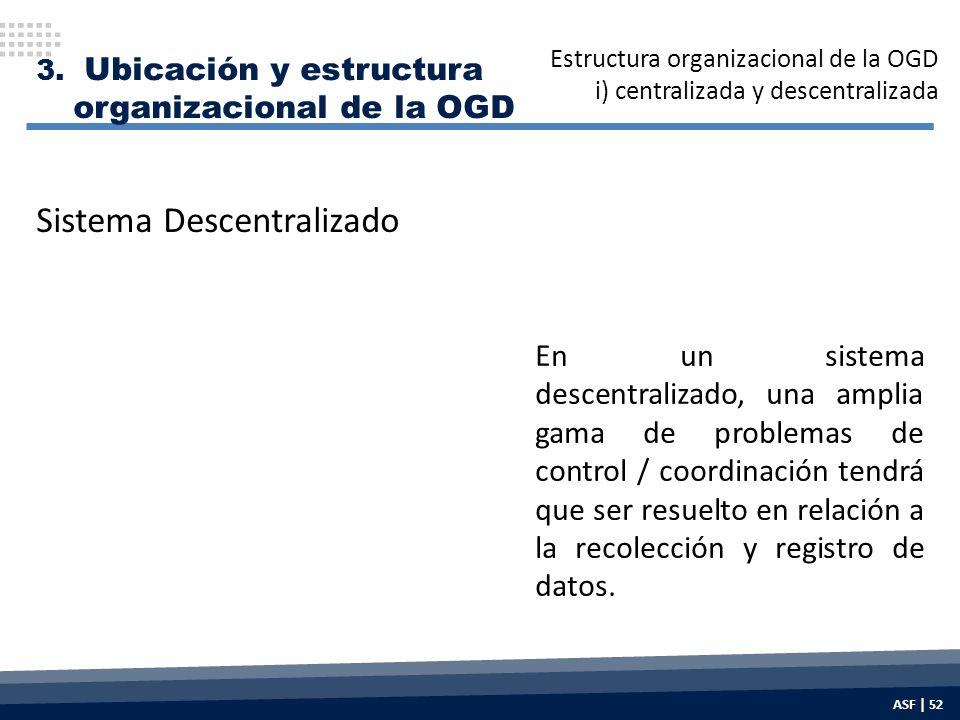 En un sistema descentralizado, una amplia gama de problemas de control / coordinación tendrá que ser resuelto en relación a la recolección y registro de datos.