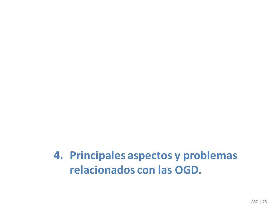 4.Principales aspectos y problemas relacionados con las OGD. ASF | 78