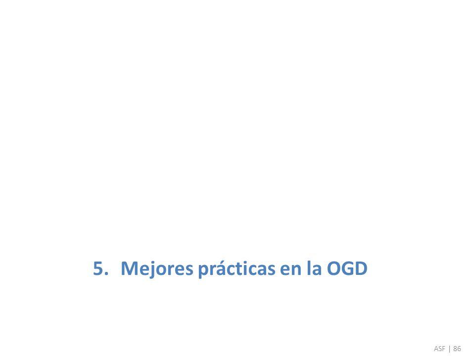 5.Mejores prácticas en la OGD ASF | 86