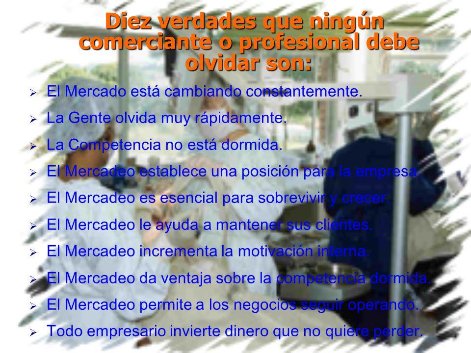 Toda actividad comercial, industrial o de servicios, sea grande o pequeña requieren mercadear sus productos o servicios.