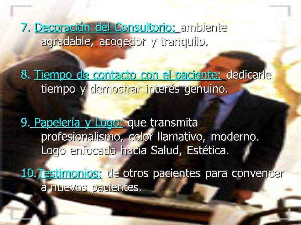 Ayudas audiovisuales: fotos, diapositivas, dibujos, videos cortos para apoyar la presentación de caso y lograr hacer el cierre del acuerdo con el paci