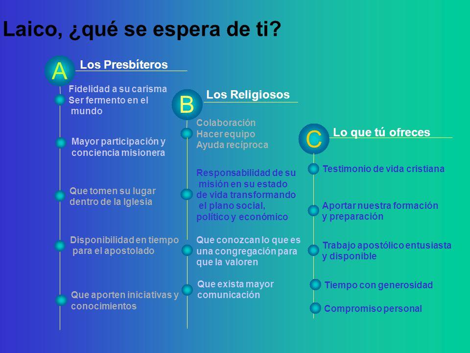 Los Presbíteros Religioso, ¿qué se espera de ti.