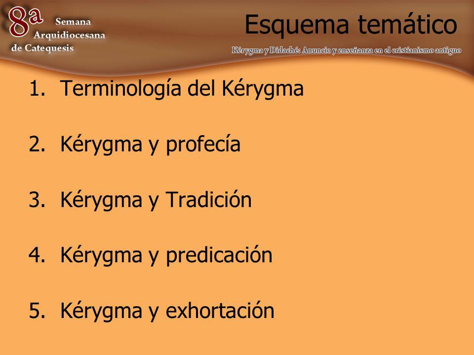 Terminología del Kérygma Kéryx: Mensajero.Kerysso: enseñar públicamente.