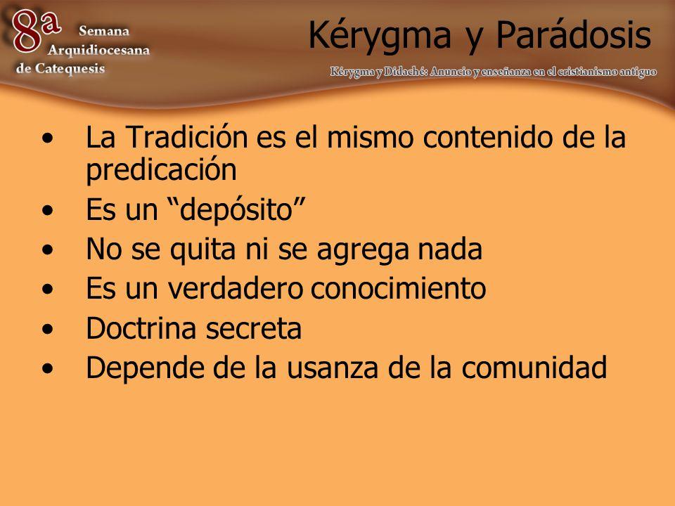 Kérygma y paráclesis Paráclesis significa: llamar, convocar, invocar, solicitar, incitar, exhortar, dar consuelo o bienestar, pedir indulgencia y perdón.