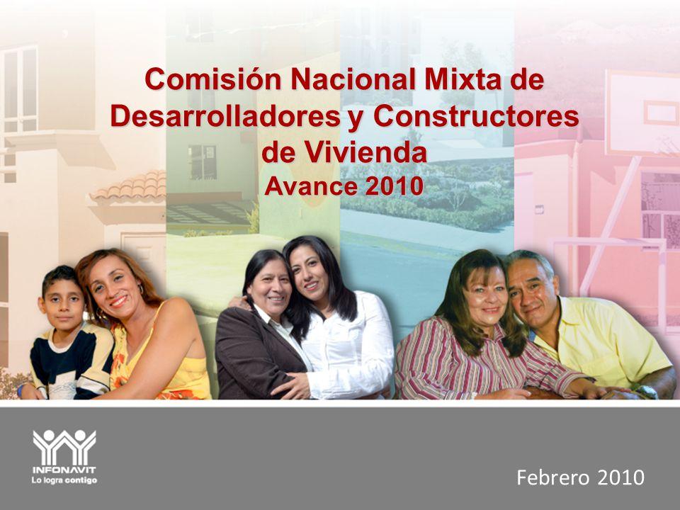 Febrero 2010 Comisión Nacional Mixta de Desarrolladores y Constructores de Vivienda Avance 2010