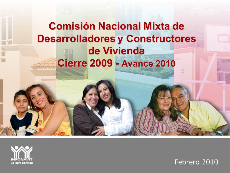 Comisión Nacional Mixta de Desarrolladores y Constructores de Vivienda Cierre 2009 - Avance 2010 Febrero 2010