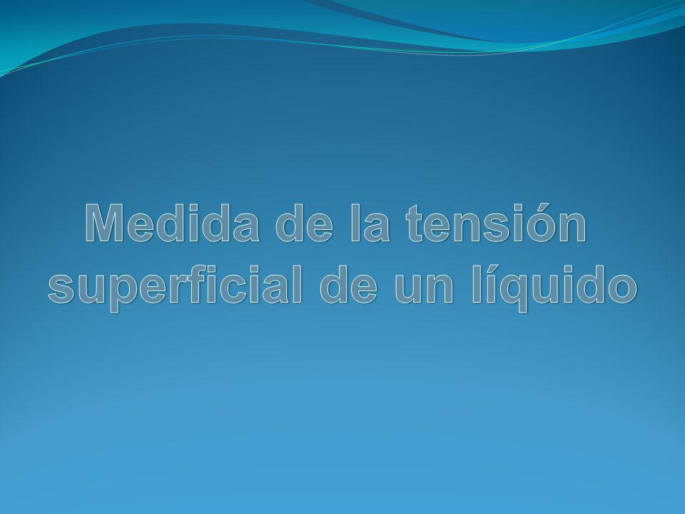 Tensión superficial La tensión superficial suele representarse mediante la letra γ.