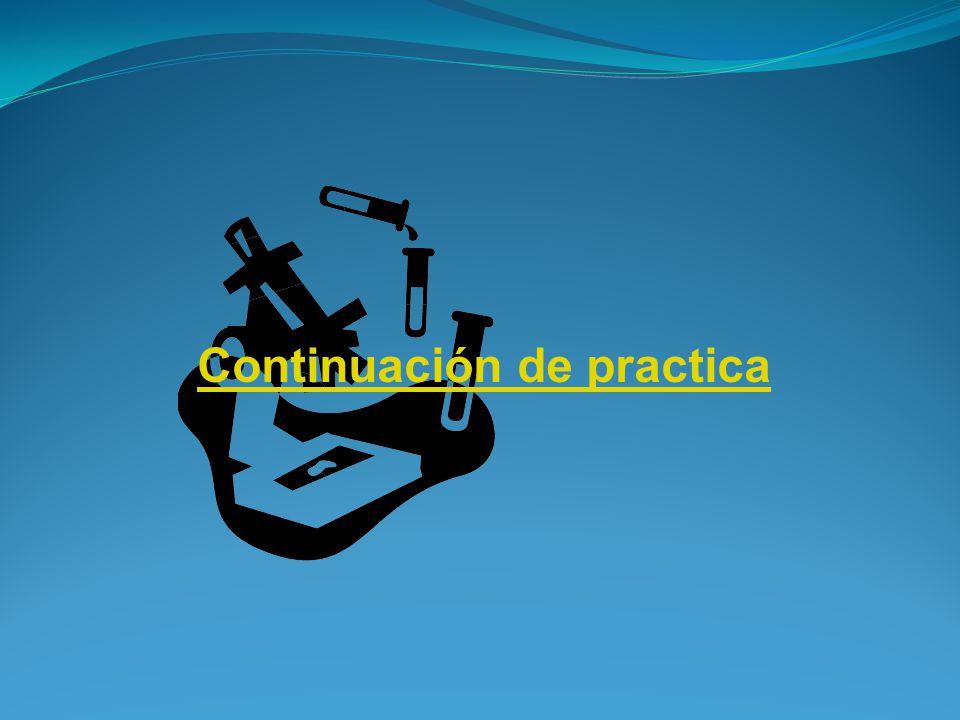 Continuación de practica