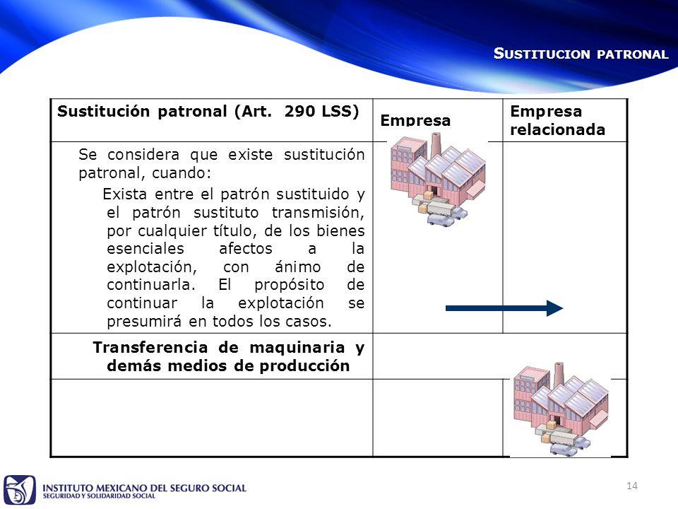 14 Sustitución patronal (Art.