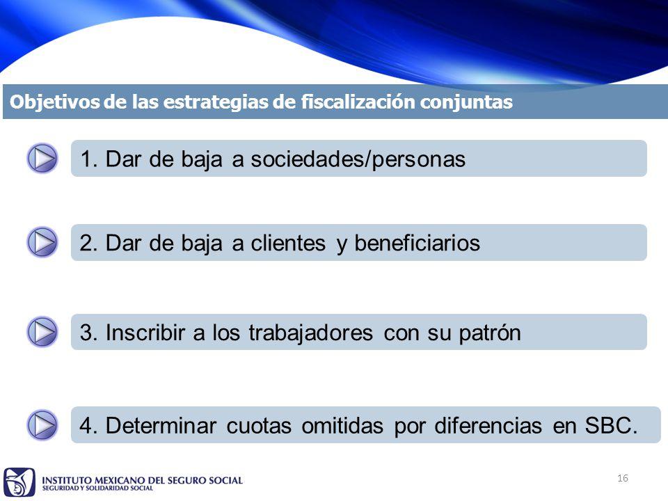 16 Objetivos de las estrategias de fiscalización conjuntas 1.