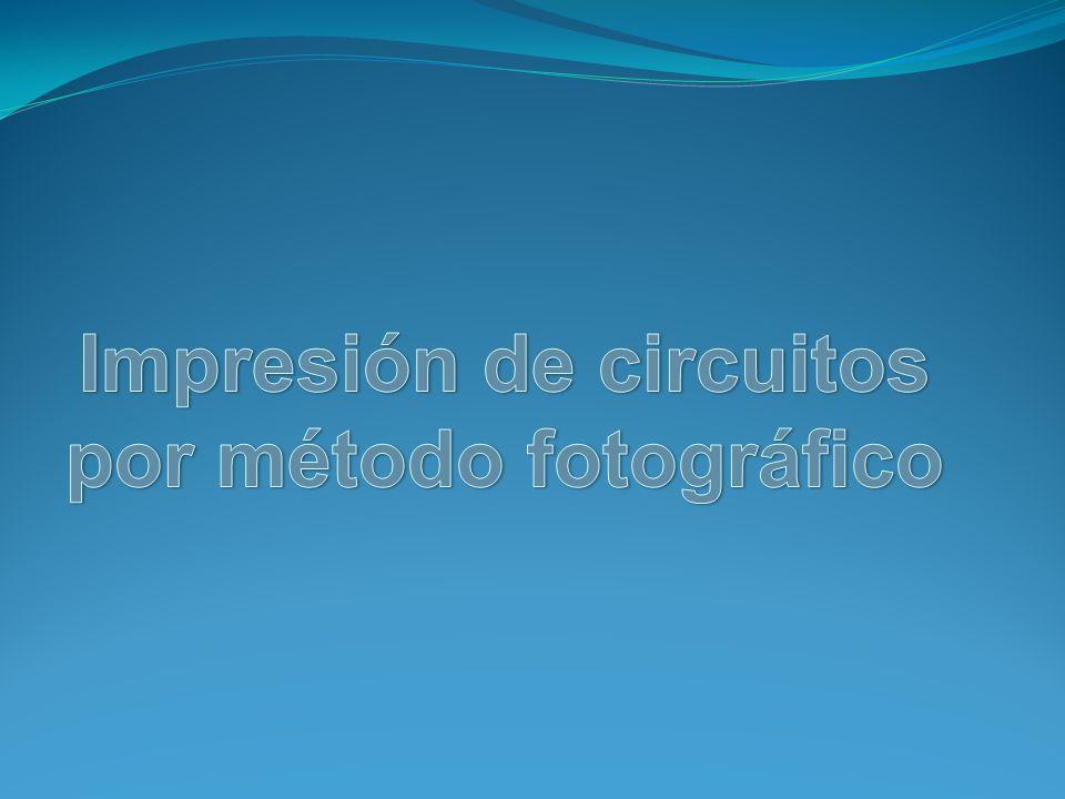 Objetivo El objetivo general de la practica es que el alumno conozca el método de fabricación de los circuitos por el método fotográfico mediante una practica virtual