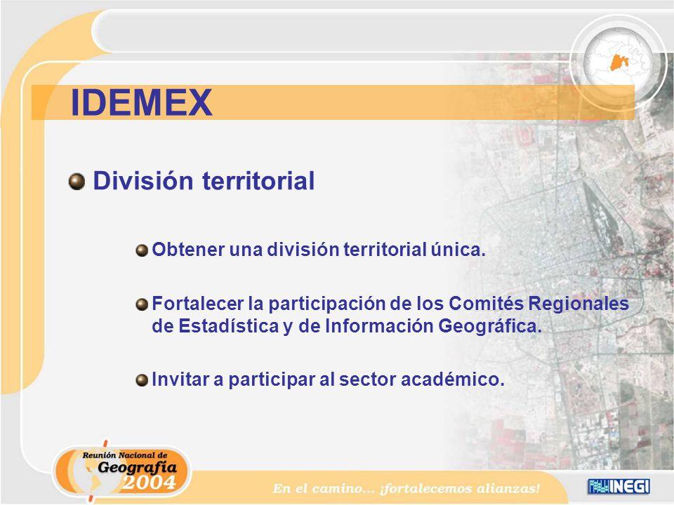 División territorial Obtener una división territorial única.