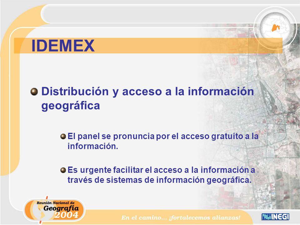 Distribución y acceso a la información geográfica El panel se pronuncia por el acceso gratuito a la información.