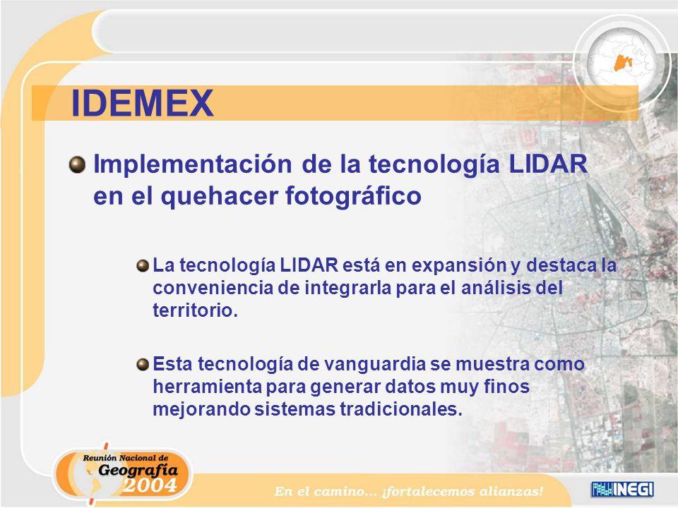 Implementación de la tecnología LIDAR en el quehacer fotográfico La tecnología LIDAR está en expansión y destaca la conveniencia de integrarla para el análisis del territorio.