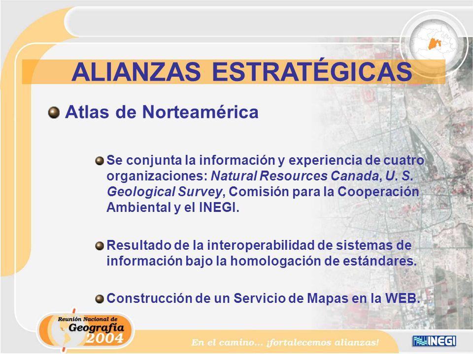 Atlas de Norteamérica Se conjunta la información y experiencia de cuatro organizaciones: Natural Resources Canada, U.