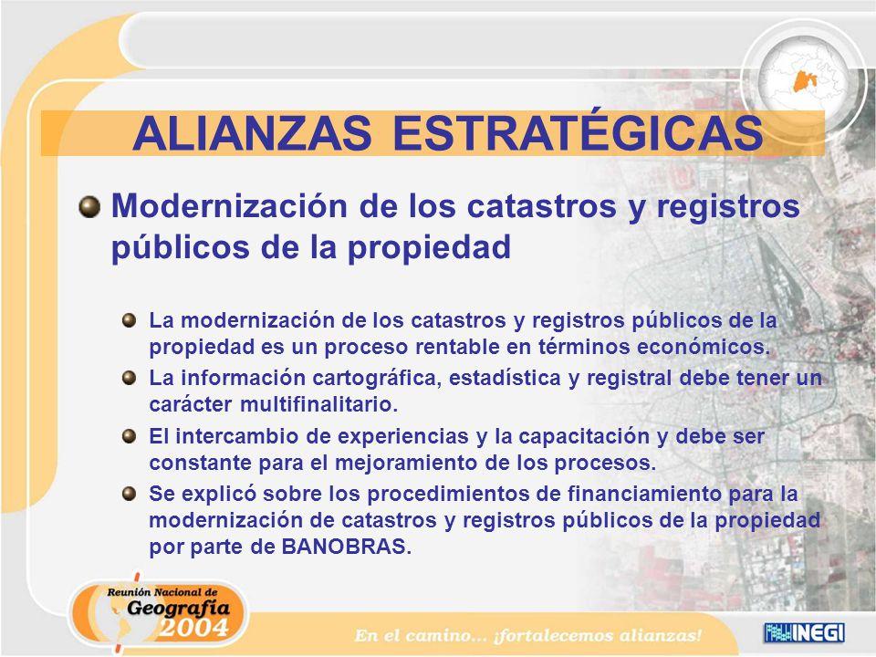 Modernización de los catastros y registros públicos de la propiedad La modernización de los catastros y registros públicos de la propiedad es un proceso rentable en términos económicos.