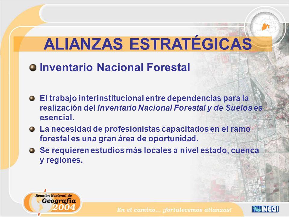 Inventario Nacional Forestal El trabajo interinstitucional entre dependencias para la realización del Inventario Nacional Forestal y de Suelos es esencial.
