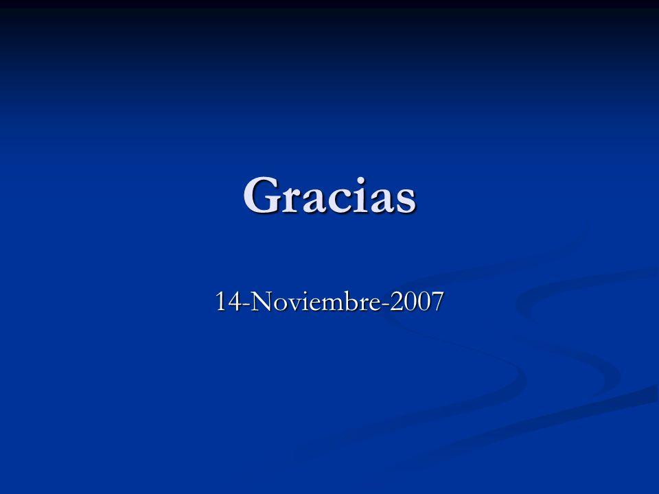Gracias 14-Noviembre-2007