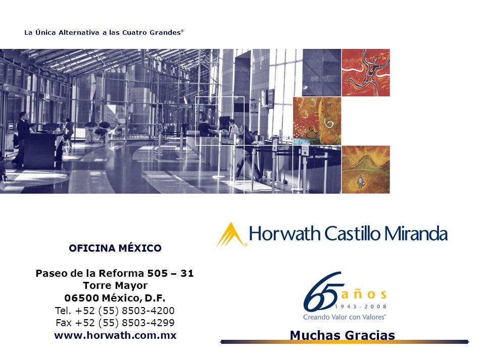 La Única Alternativa a las Cuatro Grandes ® OFICINA MÉXICO Paseo de la Reforma 505 – 31 Torre Mayor 06500 México, D.F.