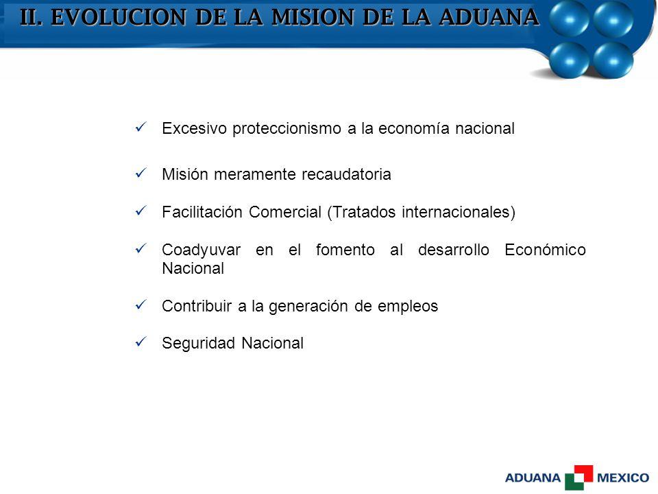 Excesivo proteccionismo a la economía nacional Misión meramente recaudatoria Facilitación Comercial (Tratados internacionales) Coadyuvar en el fomento