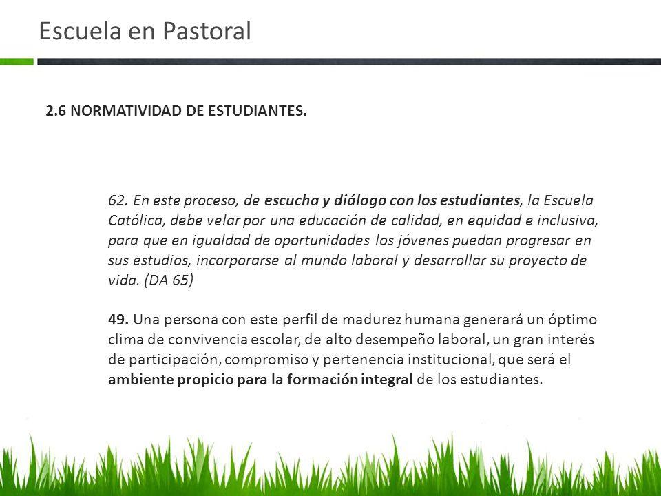 Escuela en Pastoral 62.