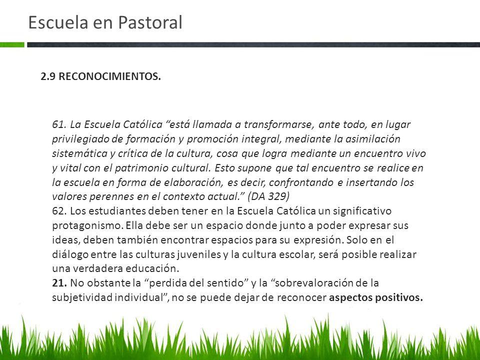 Escuela en Pastoral 61.