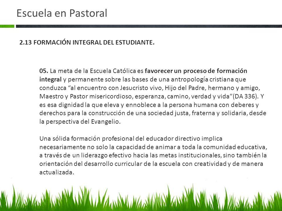 Escuela en Pastoral 05.