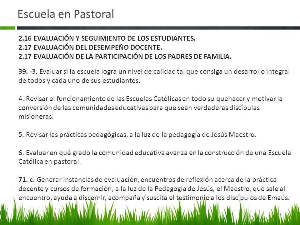 Escuela en Pastoral 39.-3.