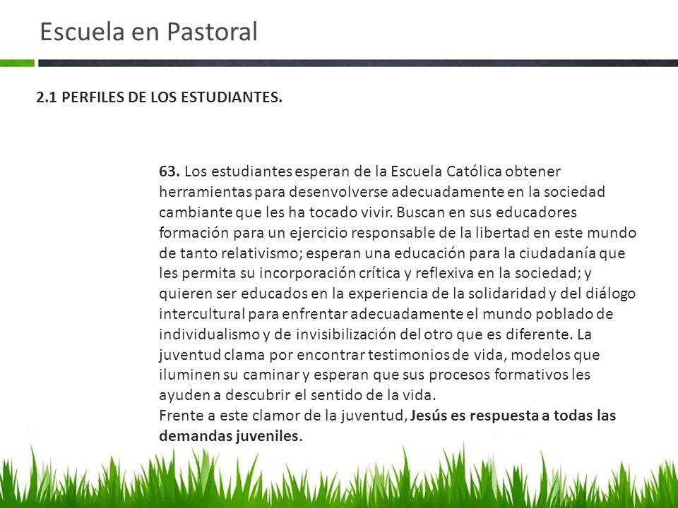 Elemento: Perfiles CRITERIO 2.1 PERFILES DE LOS ESTUDIANTES.