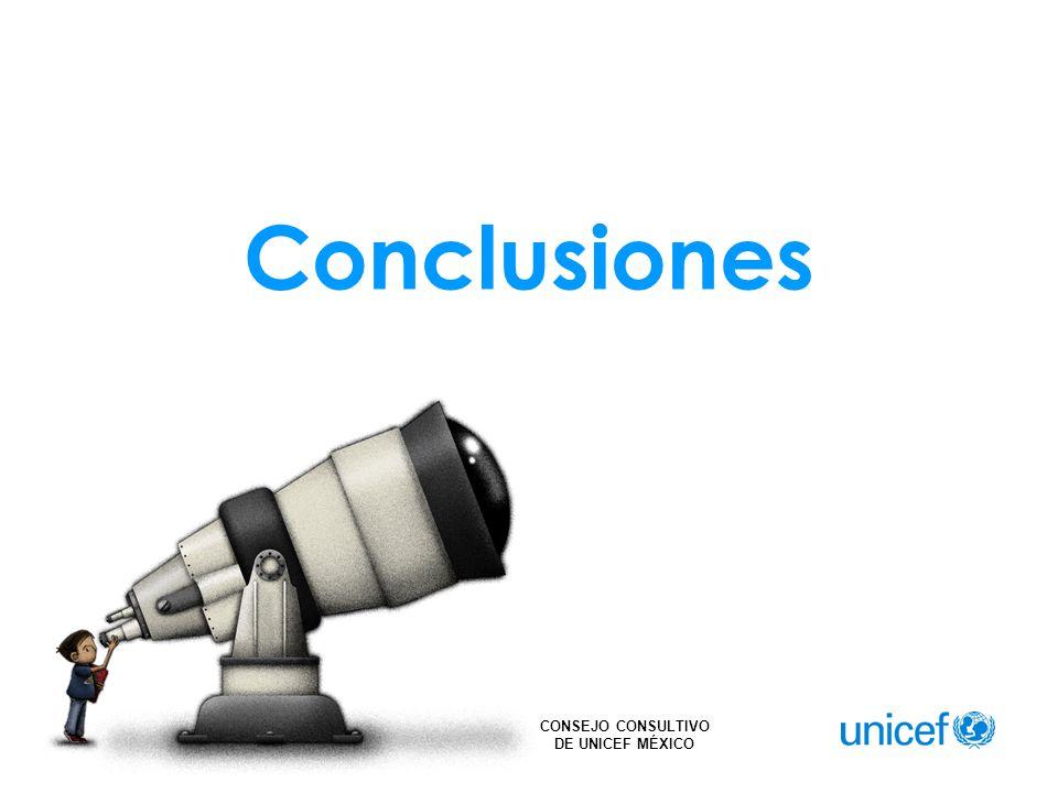 CONSEJO CONSULTIVO DE UNICEF MÉXICO Conclusiones