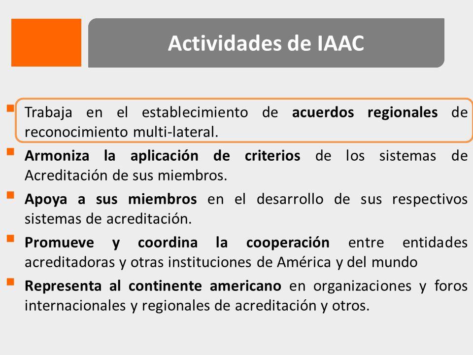 PHYSIKALISCH TECHNISCHE BUNDESANSTALT (PTB) IAF – ILAC JDSC COMITÉ DE APOYO AL DESARROLLO Cooperación Técnica Fortalecer la competencia técnica de IAAC y de sus miembros Infraestructura de la calidad para eficiencia energética y energías renovables en Latino América y el Caribe 2011 -2015 Cooperación Regional para la protección ambiental y seguridad alimentaria en América Latina y el Caribe 2007 - 2012
