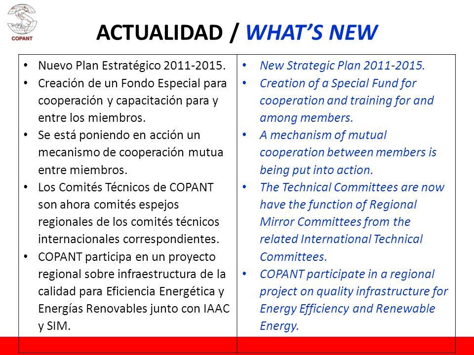 ACTUALIDAD / WHATS NEW Nuevo Plan Estratégico 2011-2015.