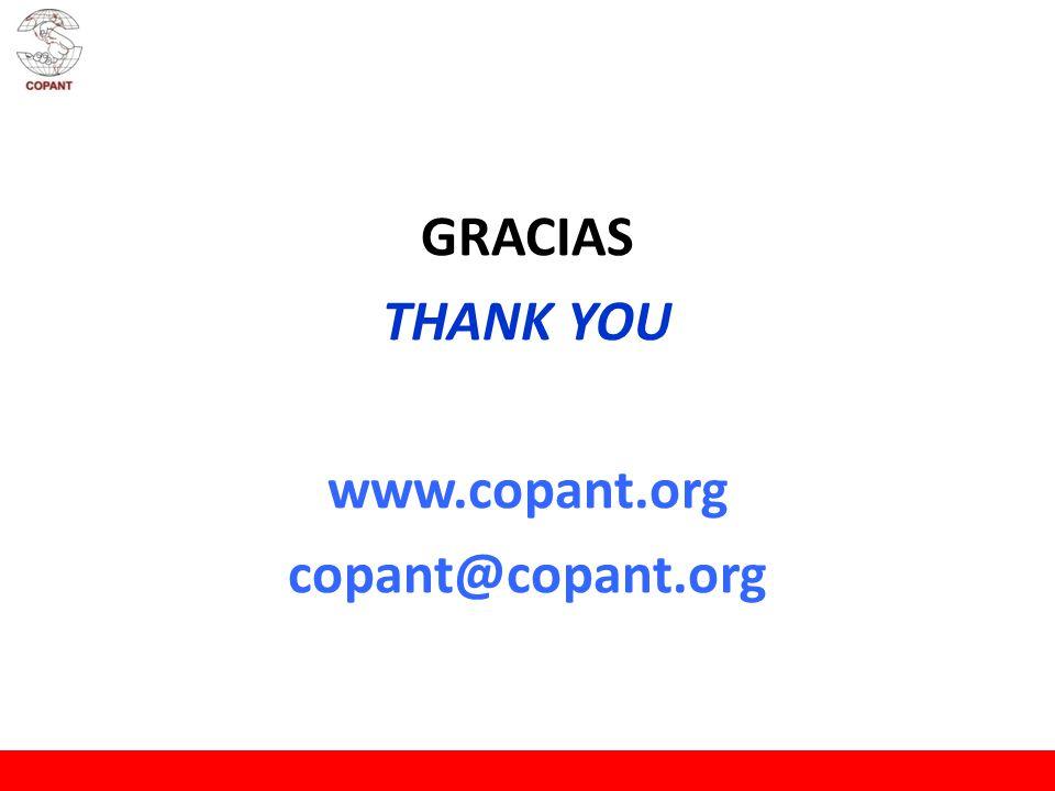 GRACIAS THANK YOU www.copant.org copant@copant.org