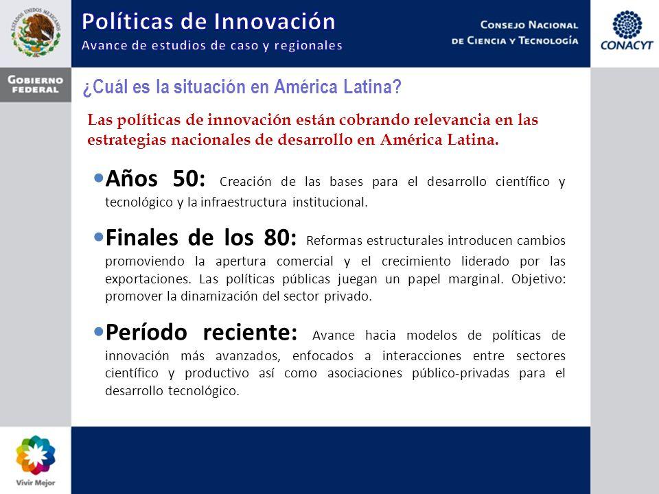 ¿Cuál es la situación en América Latina? Las políticas de innovación están cobrando relevancia en las estrategias nacionales de desarrollo en América