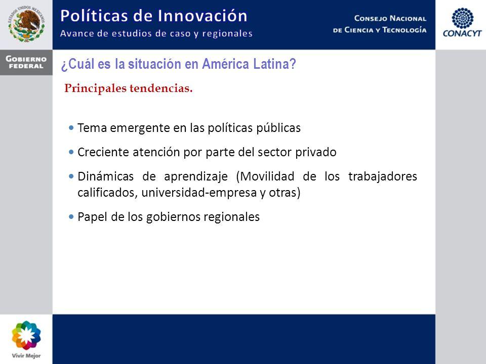 ¿Cuál es la situación en América Latina? Principales tendencias. Tema emergente en las políticas públicas Creciente atención por parte del sector priv