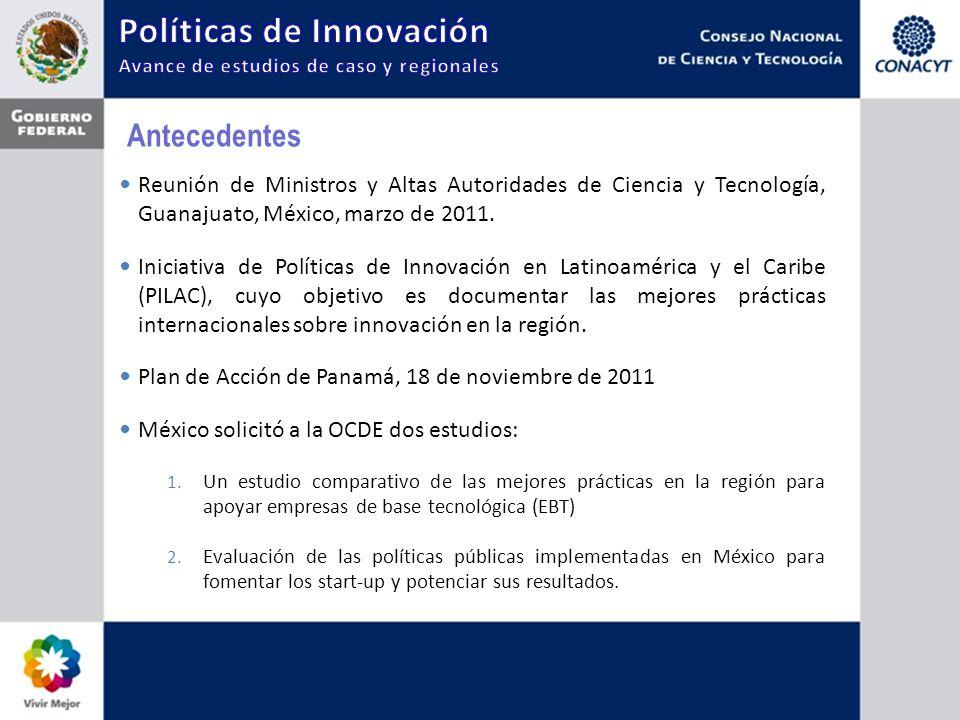 Antecedentes Reunión de Ministros y Altas Autoridades de Ciencia y Tecnología, Guanajuato, México, marzo de 2011. Iniciativa de Políticas de Innovació