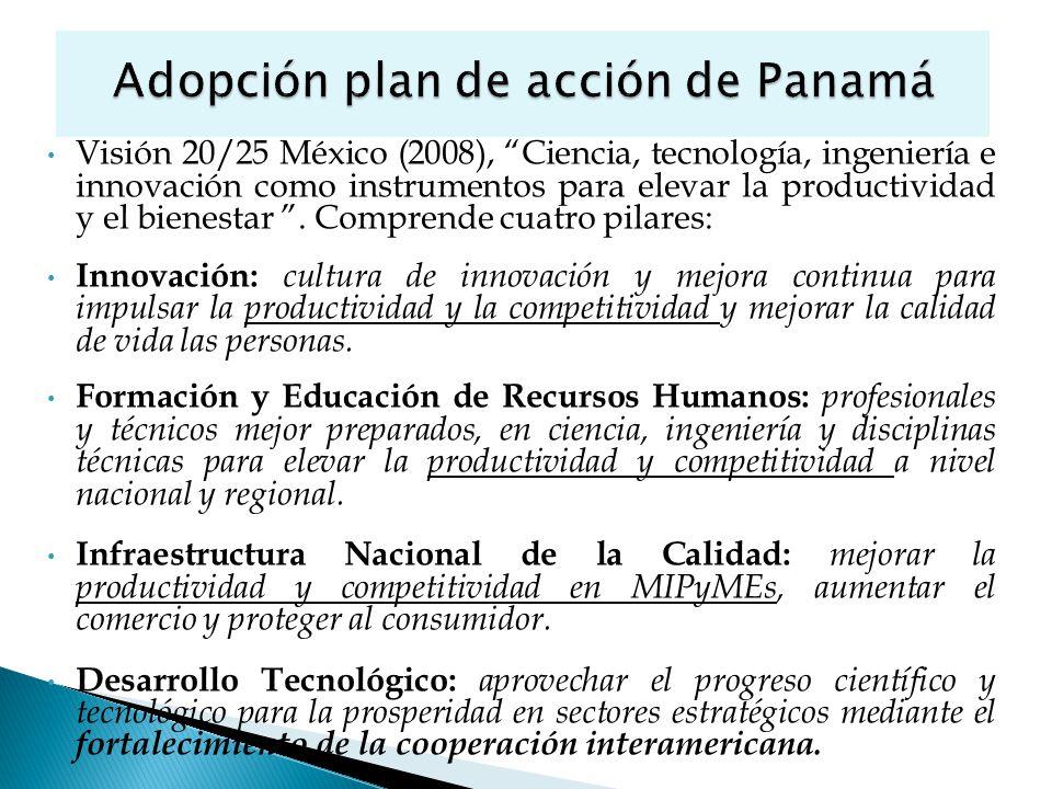 Visión 20/25 México (2008), Ciencia, tecnología, ingeniería e innovación como instrumentos para elevar la productividad y el bienestar.