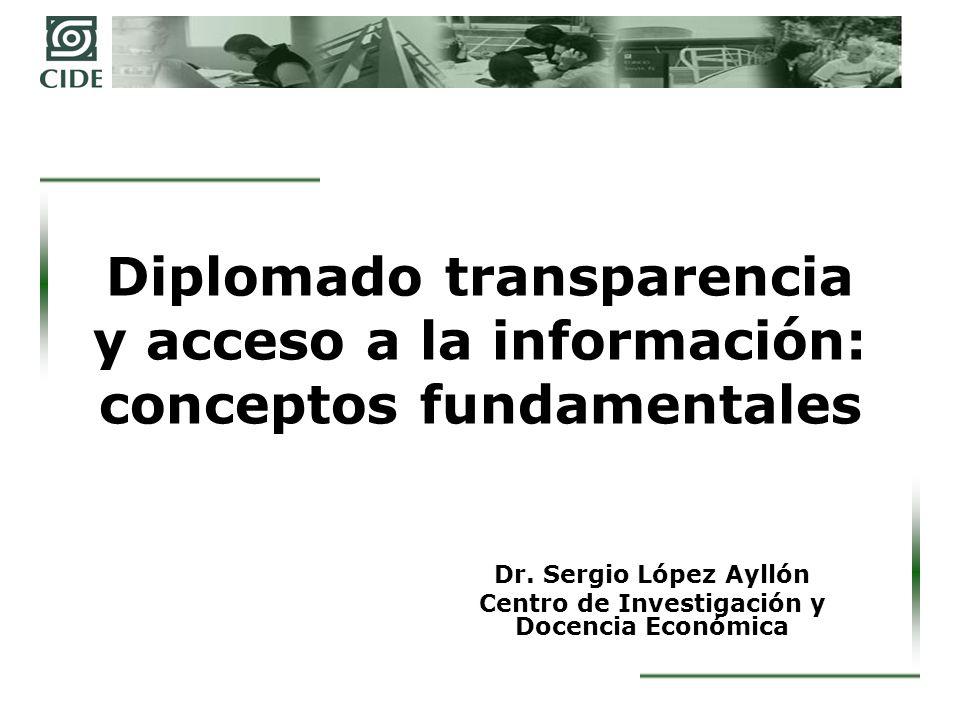 Objetivos del módulo 1.Precisar conceptualmente los contenidos de la rendición de cuentas, la transparencia y el acceso a la información.